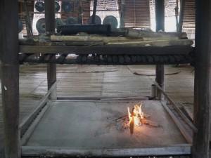 Fireplace inside the baruk