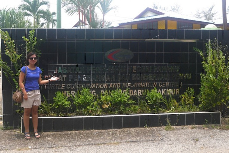 At Cherating Turtle Sanctuary Main Entrance
