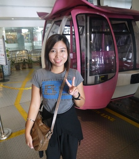 Genting Skyway cable car arrival station at Maxims