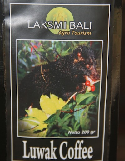 coffee being sold at the Laksmi agro tourism shop