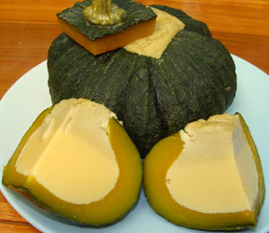 this thai steamed pumpkin custard sang kaya fuhk thong is spectacular ...