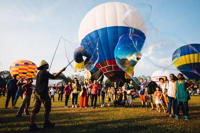Soap balls show at Penang Hot Air Balloon Fiesta