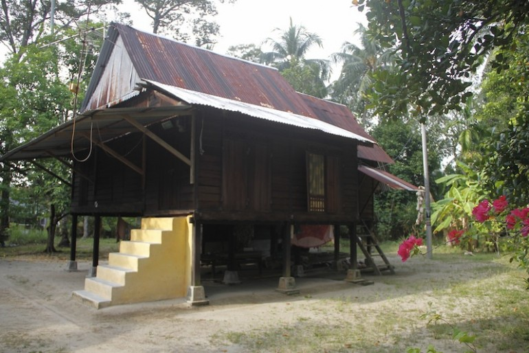 Traditional Malay house in a Kampong