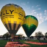 Test inflation at Penang Hot Air Balloon Fiesta
