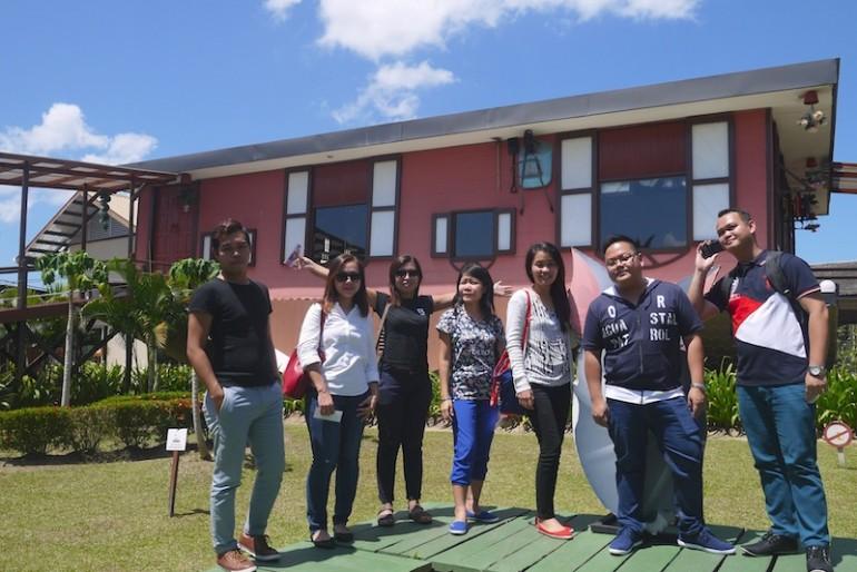 The group at Rumah Terbalik