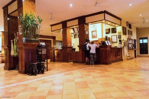 Pakse Hotel reception area