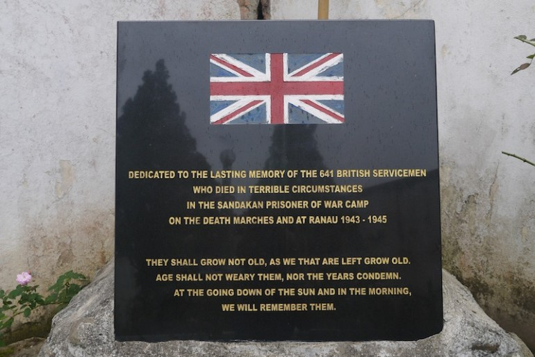 One of the memorial signs