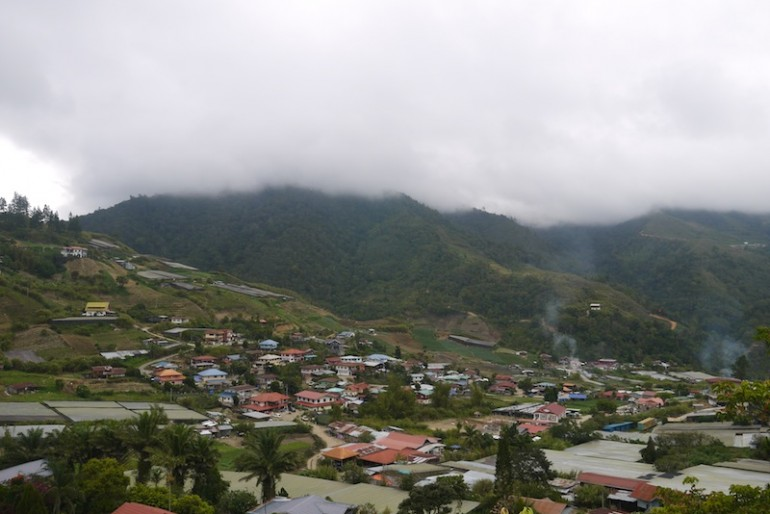 Lovely panorama of Kundasang