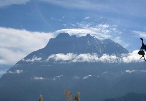 View of Mount Kinabalu from Kundasang