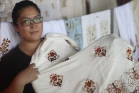 Yulia the batik woman