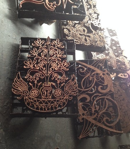 The batik moulds