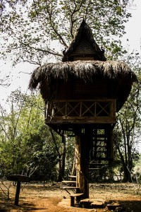 Phasuam ethnic museum traditional house on stilts