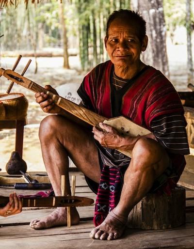 Phasuam ethnic museum village musician