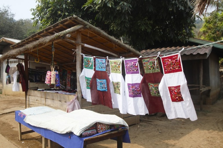 Handicraft for sale at a Hmong village