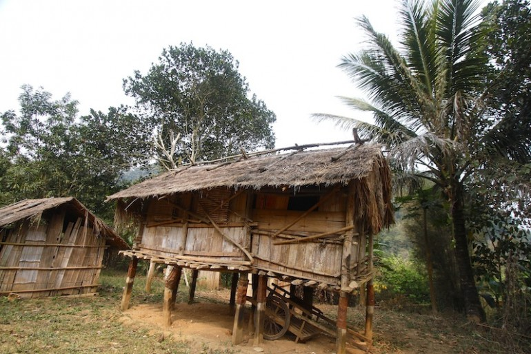 Traditional Khmu house on stilts