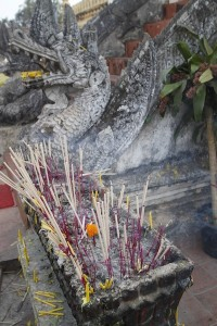 Offering incenses at the pagoda
