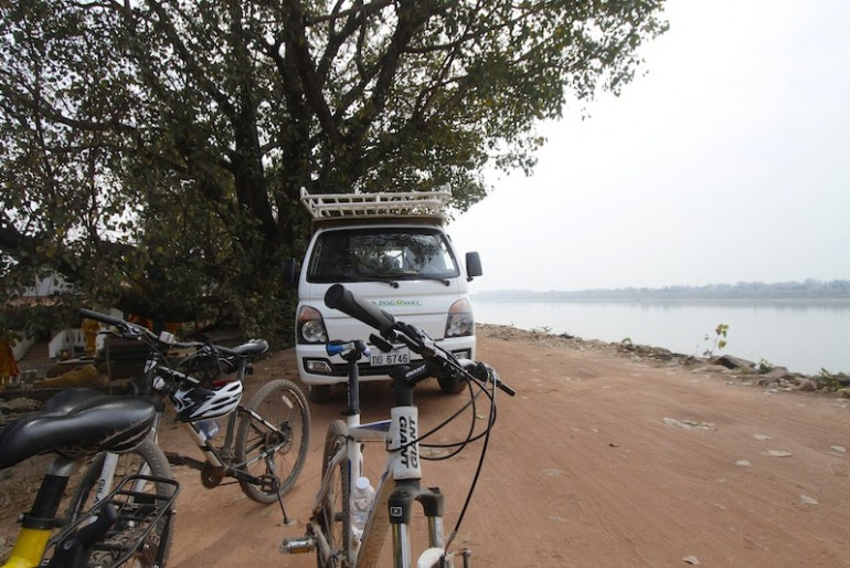 Pit stop along the Mekong