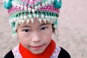 Local kid at a Hmong village