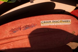 Green Discovery paddles