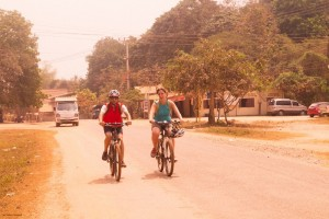 Cycling on paved roads