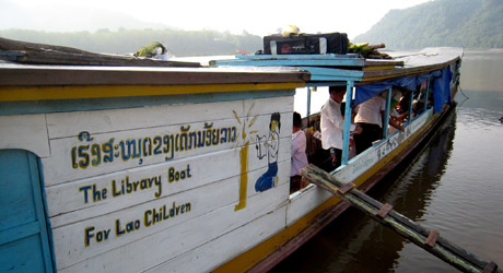 Community Learning International library boat