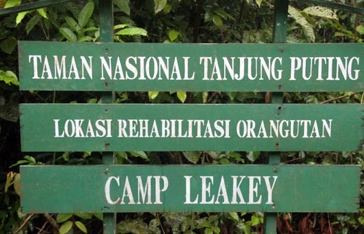 Tanjung Putin National Park sign