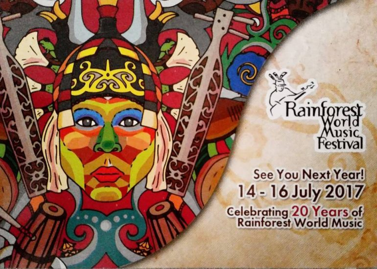 Save the dates of Rainforest World Music Festival 2017
