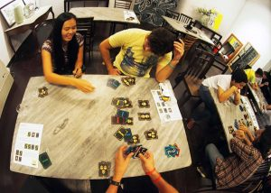 A Parang game in session during the last preview