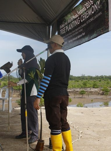 Forestry Department briefing about mangroves planting