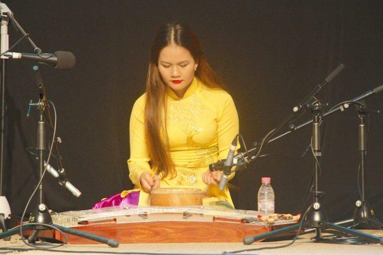 Chord instrument skilfully played by Lan Dieu Viet