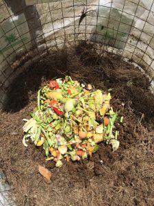 food waste is deposited