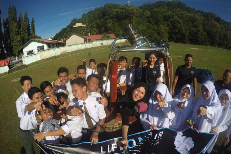 With students of kuala terengganu