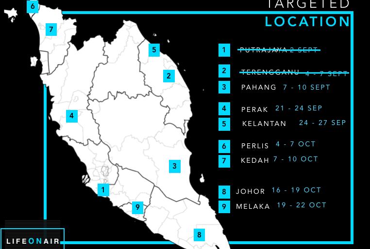 Tour locations