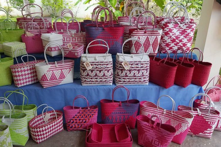 traditional rattan bags