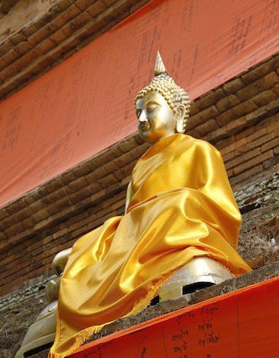 A shiny Buddha image