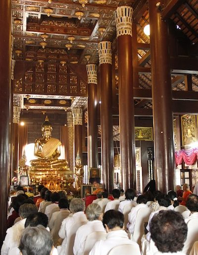 A gathering inside the main hall