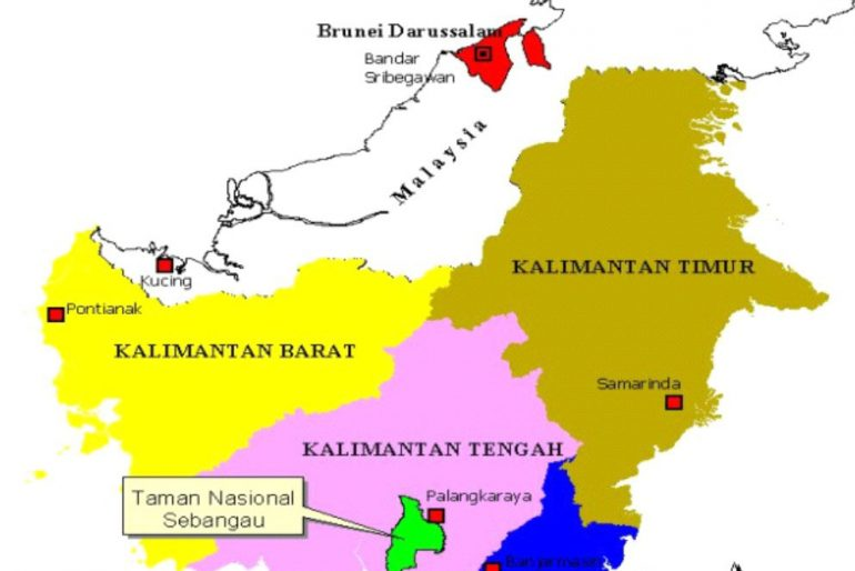 Sebangau National Park location