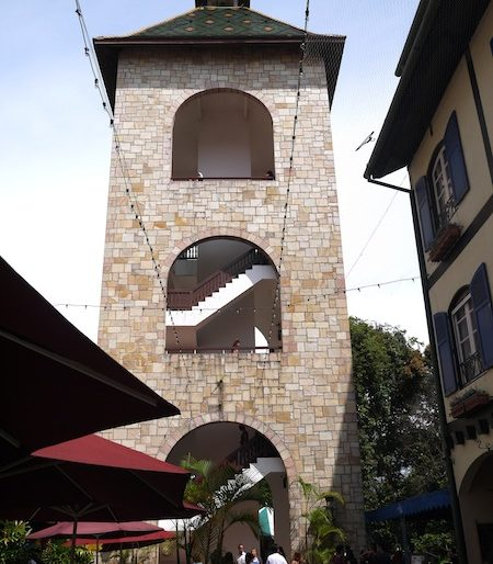 The tower inside Colmar Tropicale