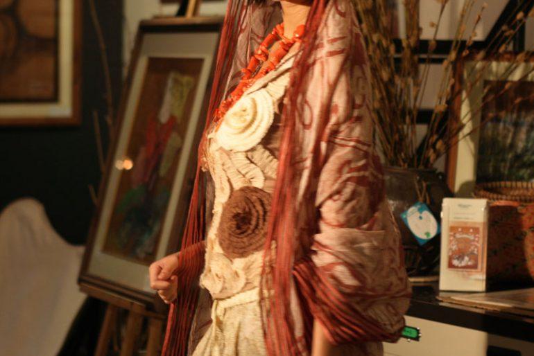 fashion shot of Edric Ong dress