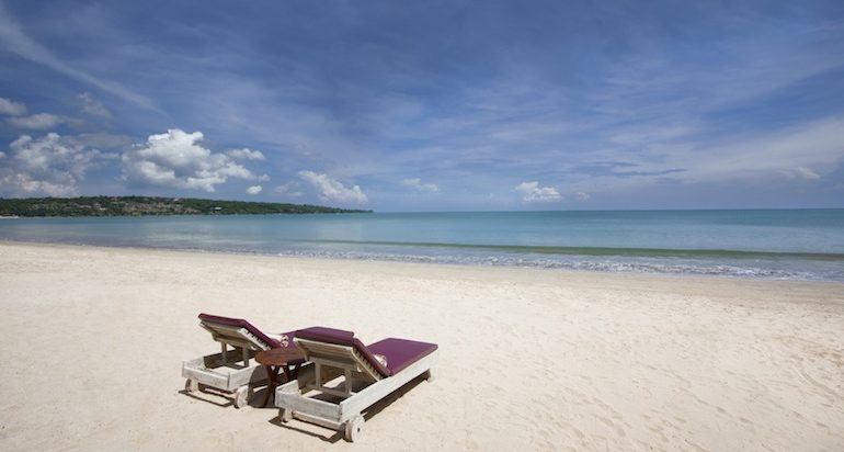 White sandy beach at Jimbaran