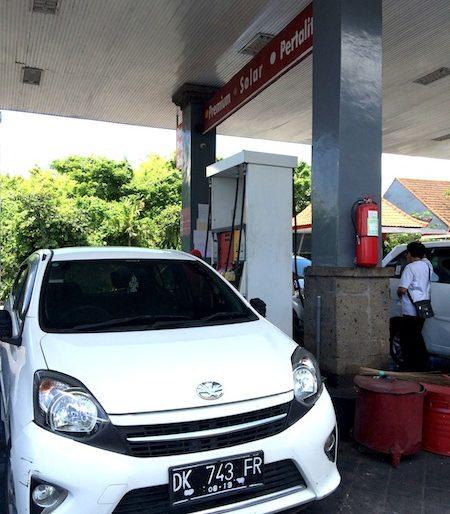 Refilling my Toyota Agya