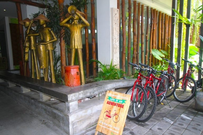Complimentary bicycles for clients at GrandMas Legian