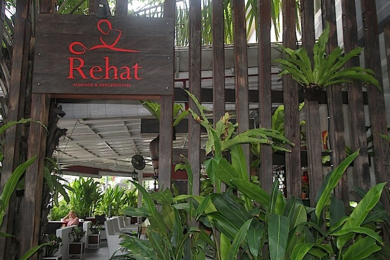 Lush entrance to Rehat Massage & Reflaxology