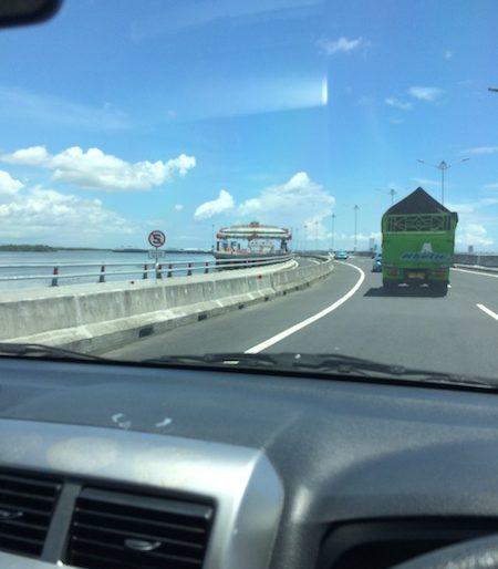 Driving along Bali Mandara