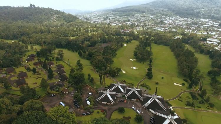 Handara Golf Resort Bali aerial view