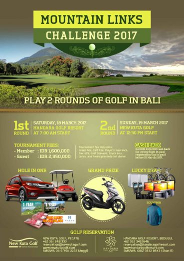 Handara mountain links challenge 2017