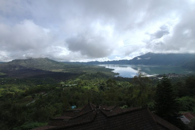 KIntamani, view of Mount Batur