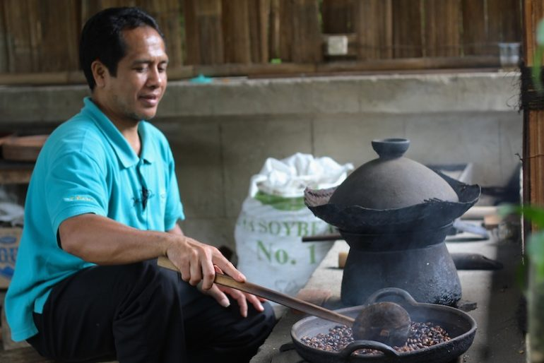 The process of coffee making