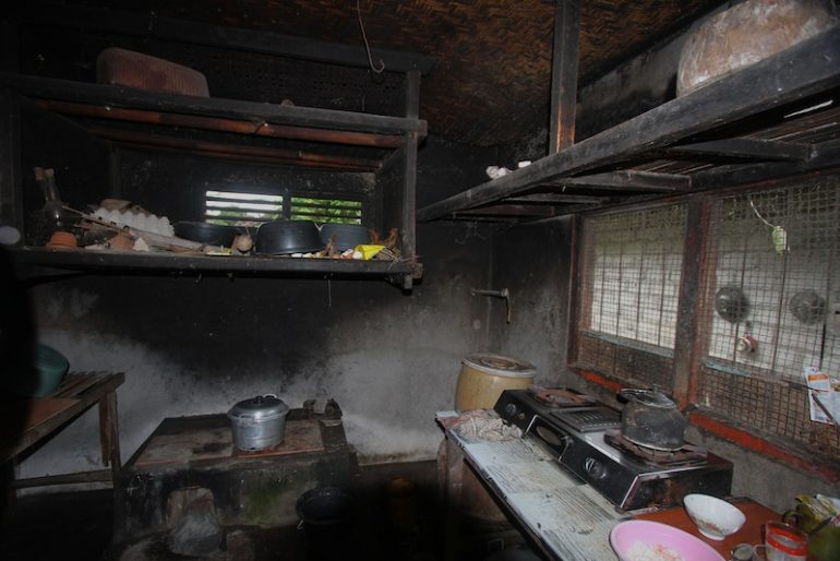 The kitchen in a traditional local house