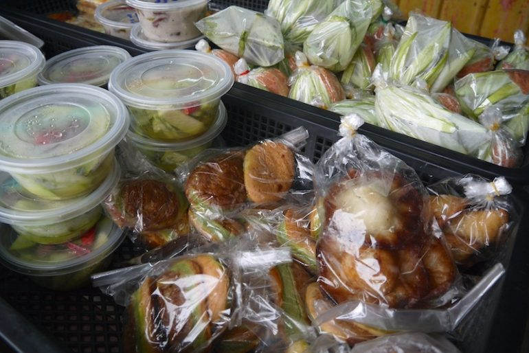 Items for sale at The stall near to Wakaf railway station